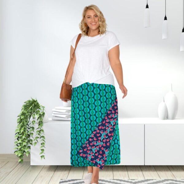 maxi wrap skirt